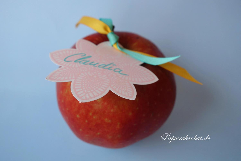 Apfel Tischkarte