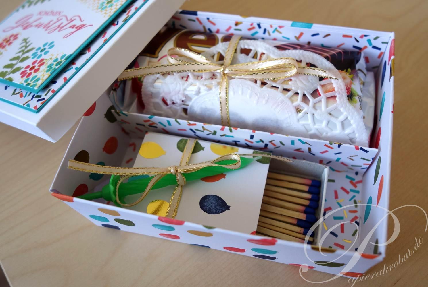Yes Törtchen Verpackung zum Geburtstag